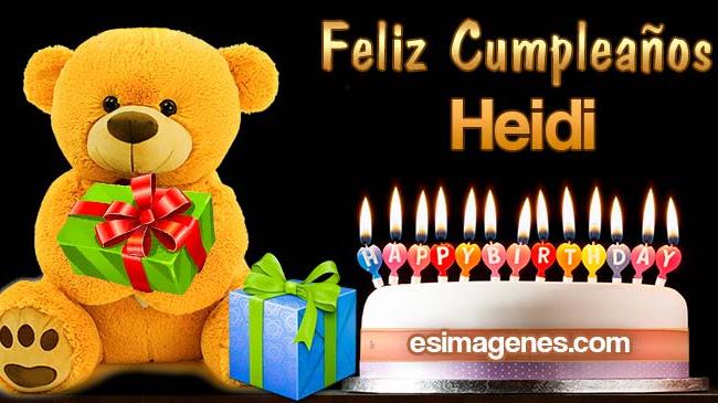 Feliz Cumpleaños Heidi