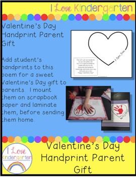 Handprint Valentine's Day Gift