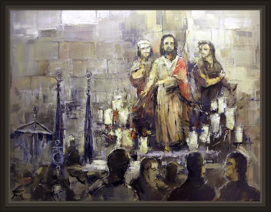 SEMANA SANTA-PASOS-IMAGENES-TARRAGONA-PINTURAS-RELIGIOSAS-PINTOR-ERNEST DESCALS-