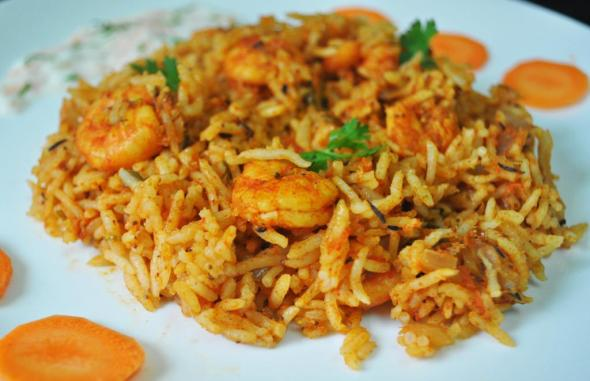 Spicy Prawn Biryani Recipe