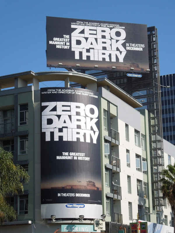 Zero Dark Thirty movie billboards