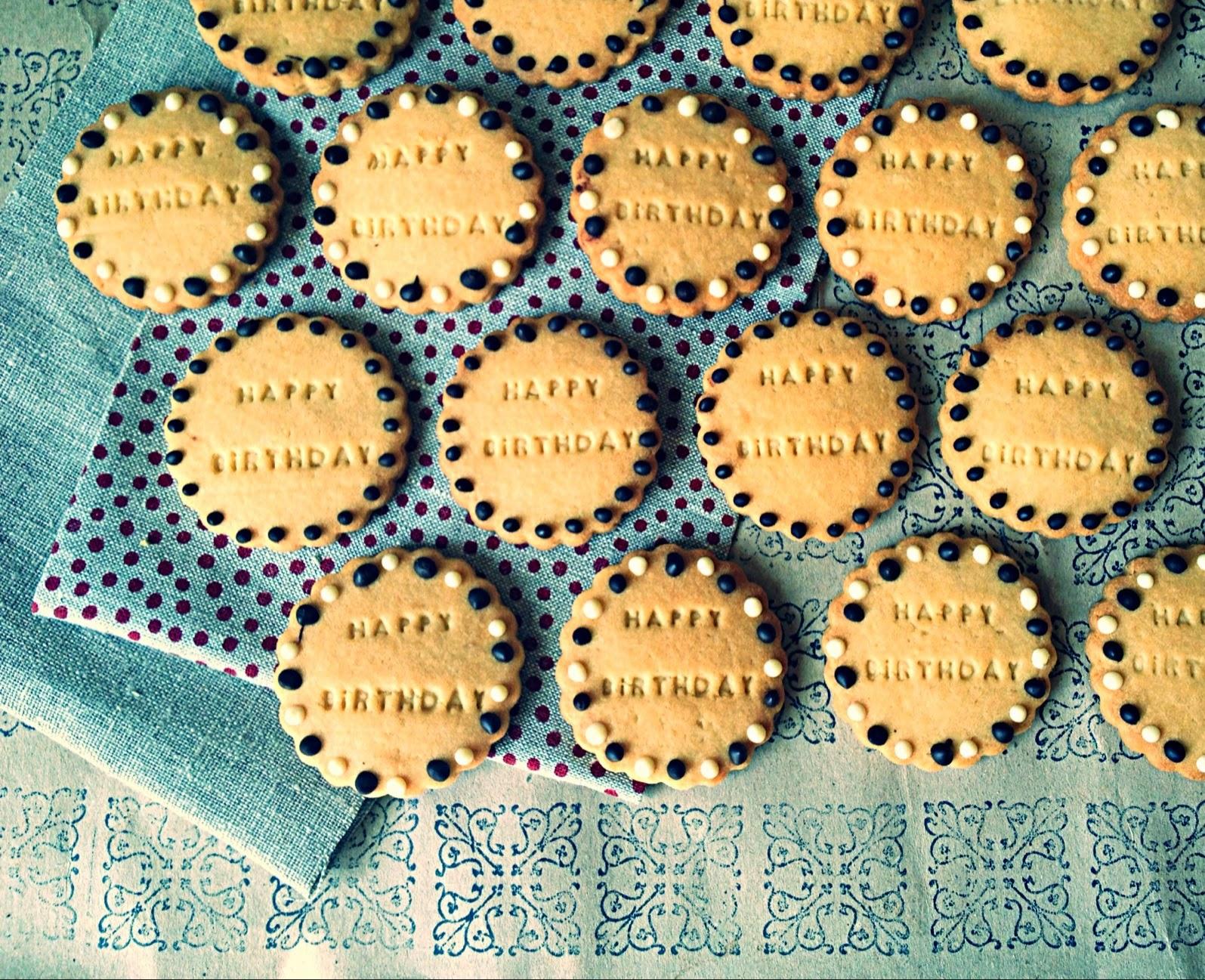 Buttercookies de cumpleaños