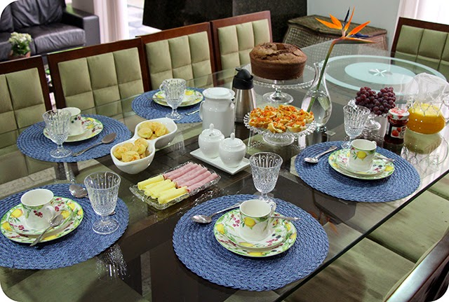 Decoração para mesa de Café da Tarde / Café da Manhã