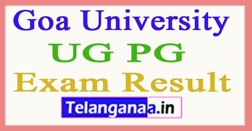 Goa University UG PG Results
