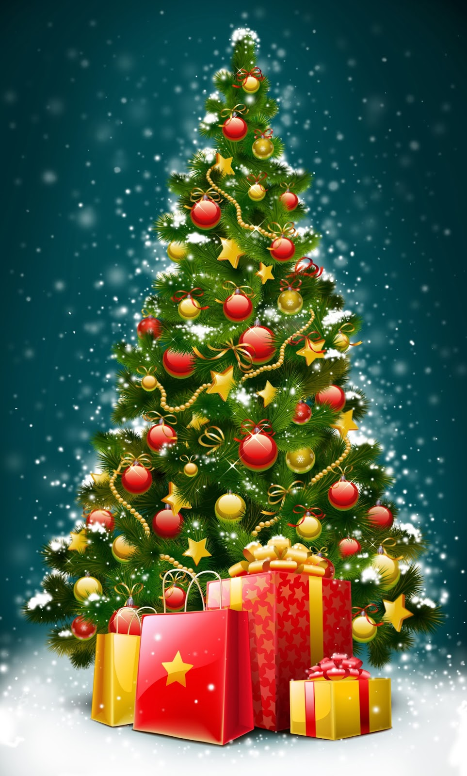 Christmas Trees Christmas Tree Decorations Happy