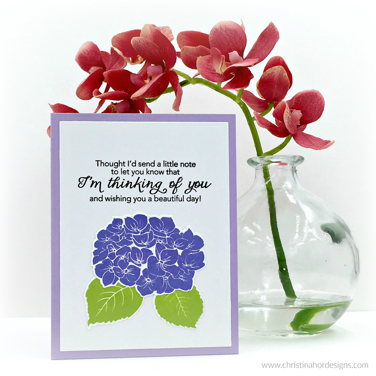 thinking of you hydrangea simon says stamp