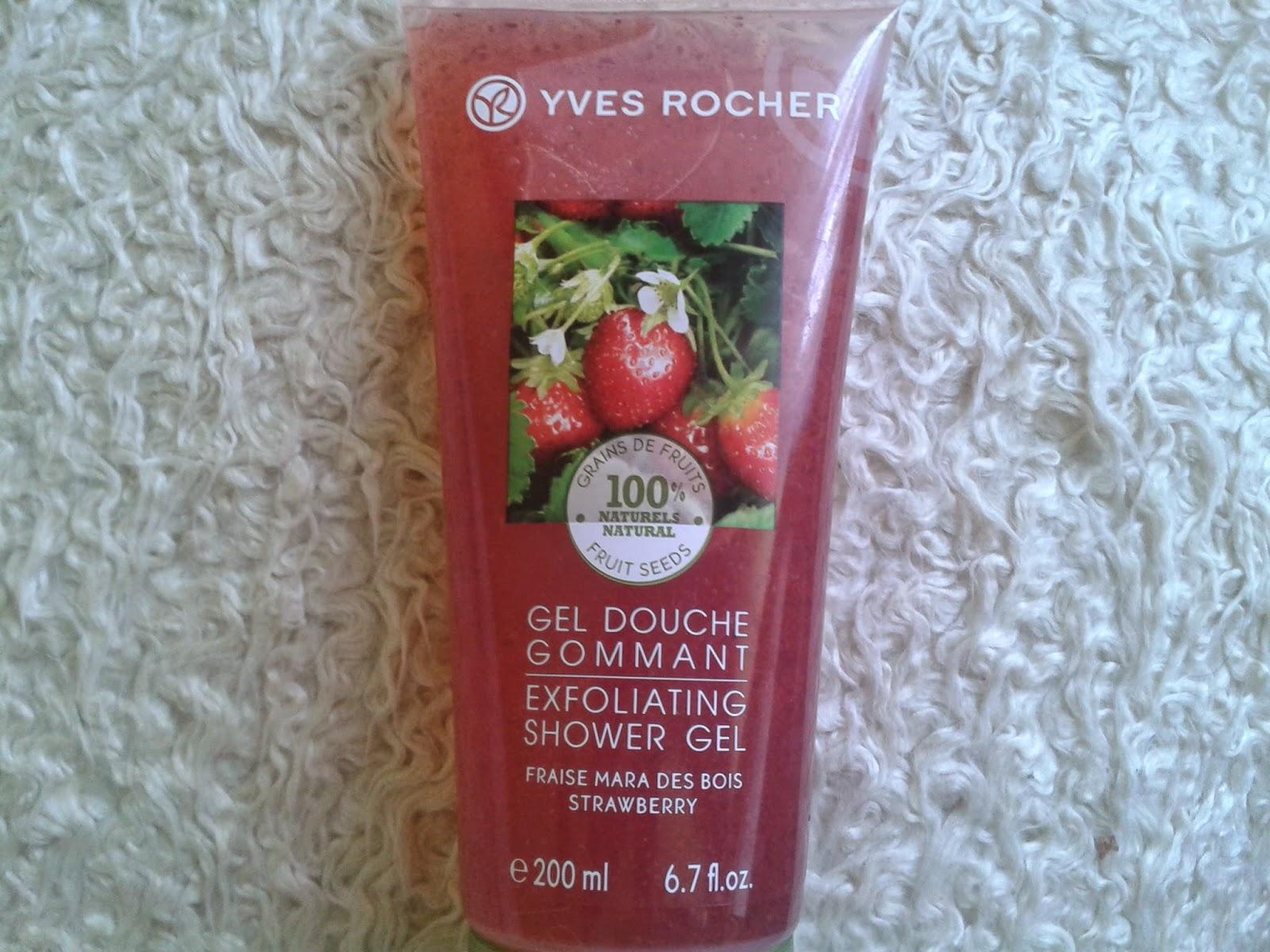 Yves Rocher - Pilingujący żel pod prysznic - truskawka