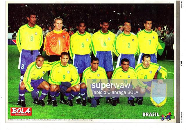 POSTER BRASIL TEAM SQUAD 1998