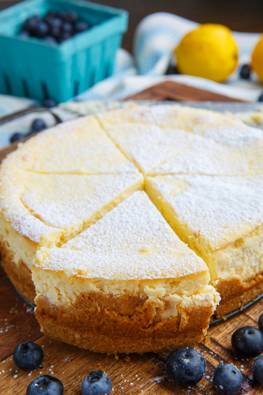Lemon New York Style Cheesecake with Gingersnap Crust