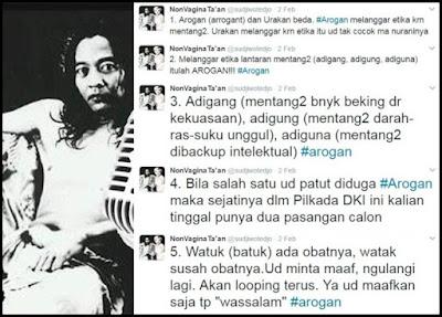Sujiwo Tejo: Calon Gubernur DKI Tinggal Dua, Ahok 'Wassalam'