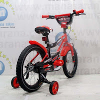 16 red family fiber bmx sepeda anak