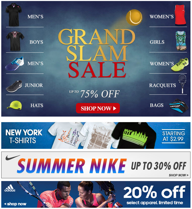 Fall Tennis Sale - 75% off @ Tennis Express