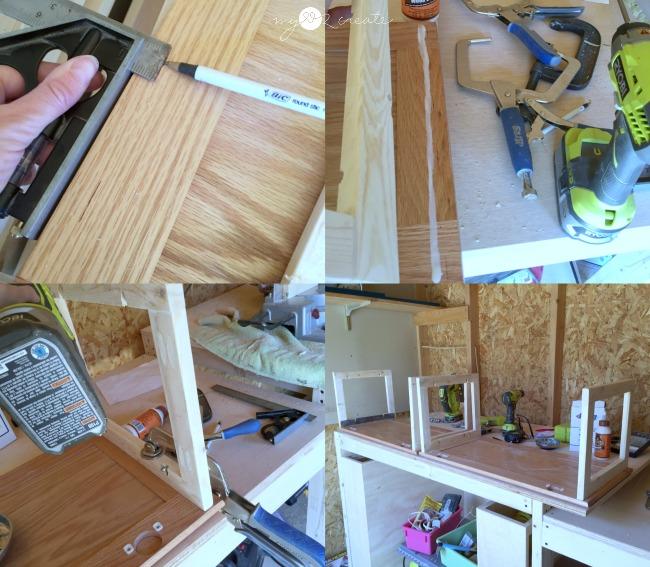 building a bookshelf from cabinet doors