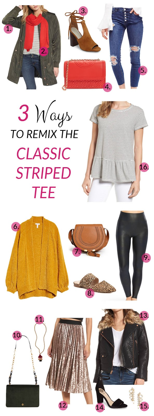 3 Ways to Remix the Classic Striped Tee by East Memphis fashion blogger Walking in Memphis in High Heels