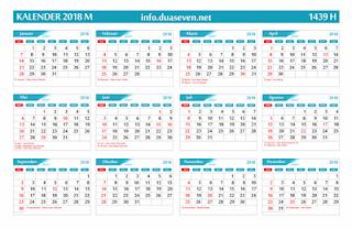 Download, Kalender 2018 Pdf, CDR, PNG, Gratis