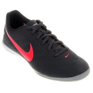 Chuteira Futsal Nike Beco 2 Futsal Masculina - Chumbo e Rosa