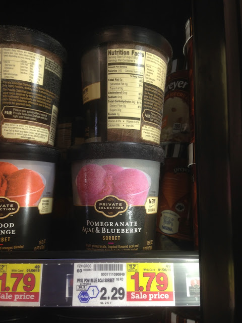 Pomegranate Acai & Blueberry Sorbet, Private Selection - Kroger