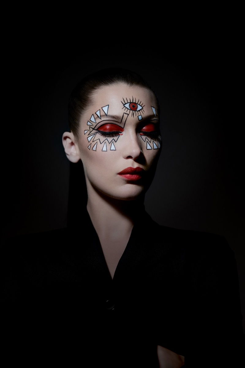Bella Hadid shows off Halloween makeup inspiration from Dior