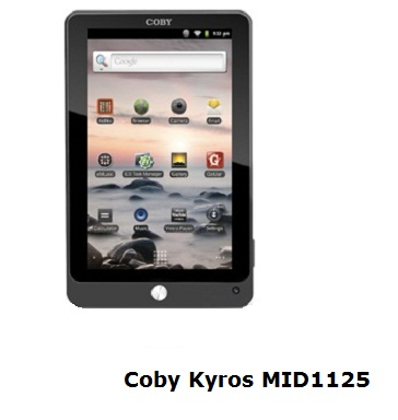 Coby Kyros MID1125 tablet review