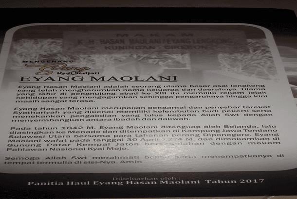 Di Tawan Dan Di Asingkannya Eyang Hasan Maolani