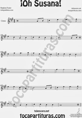 ¡Oh Susana! Partitura de Corno Francés o Trompa Sheet Music for Horn
