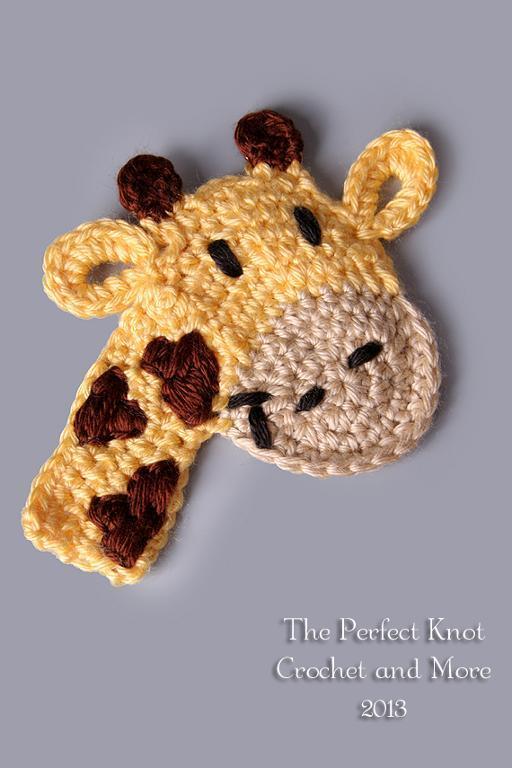 Crochetpedia 2d Crochet Giraffe Applique