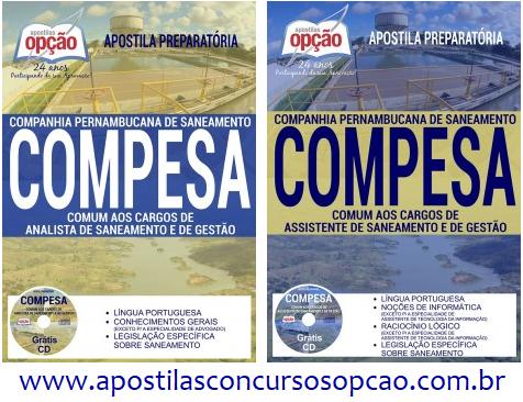 Apostila Companhia Pernambucana de Saneamento 2017.