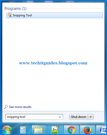 where is snipping tool windows 7 located