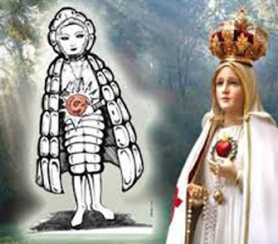hay toda una investigación que marca que las apariciones de las vírgenes, sobre todo la de Fátima, Lourdes, son apariciones de seres extraterrestres