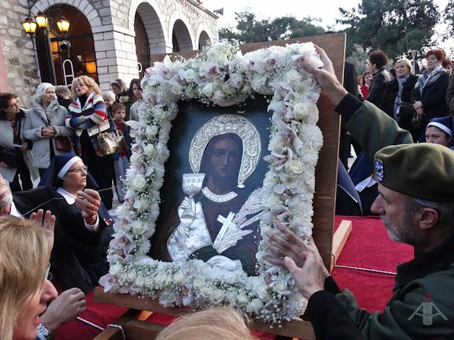 λιτάνευση της Ιεράς εικόνας και του Ιερού Λείψανου της Αγίας Βαρβάρας