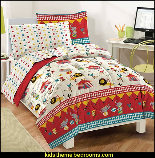 Dream Factory Circus Ultra Soft Microfiber Comforter Set