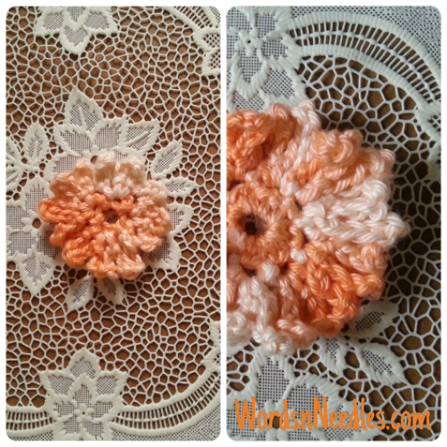 how to make a simple crochet flower