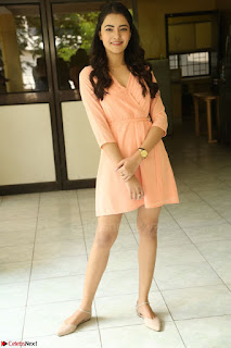 Rukshar Mir in a Peachy Deep Neck Short Dress 130.JPG
