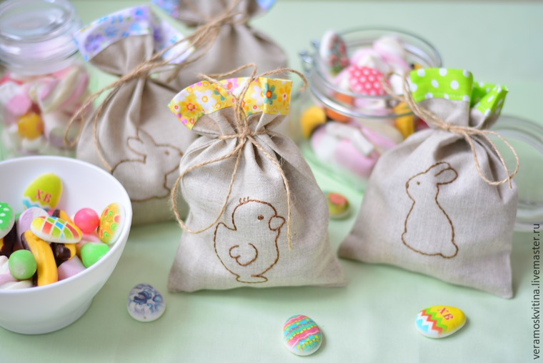 How to Sew Sweet Easter Gift Bags. Tutorial DIY