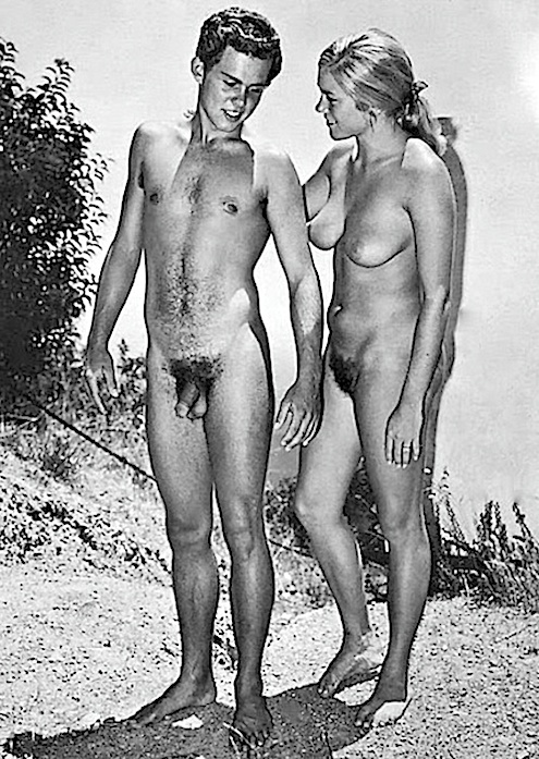 Vintage nudists couples are mistaken