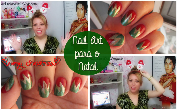 unhas decoradas para o Natal, nail art christmas, merry christimas,