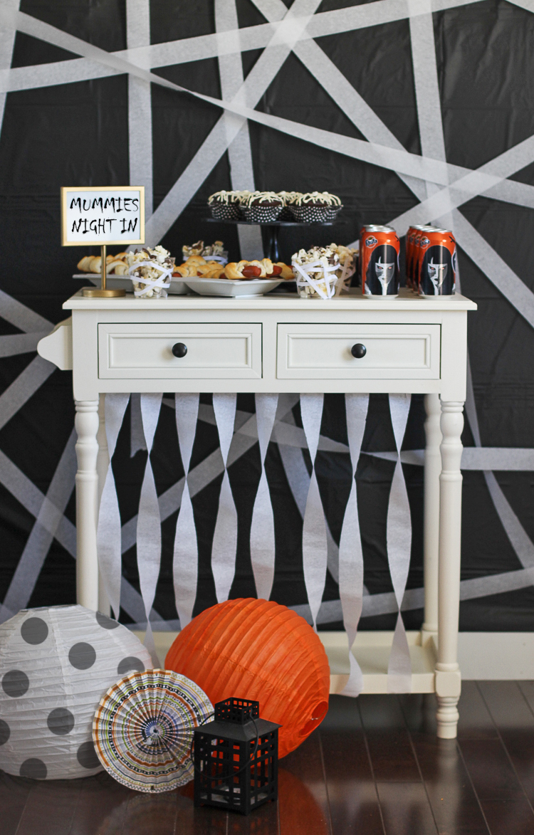 Throw a fun movie night for Halloween with a mummy theme