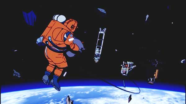 Review Planetes - Sampah luar angkasa
