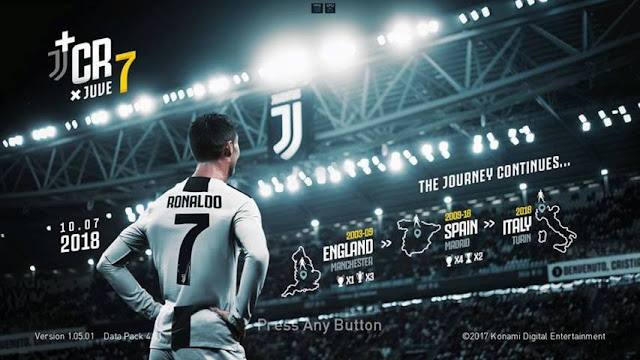Ronaldo Juventus Start Screen PES 2017