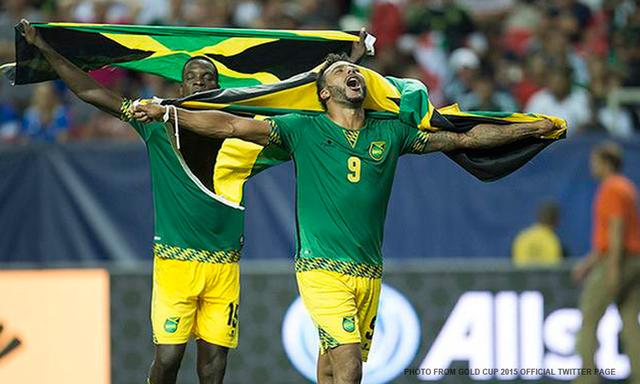 Jamaica celebra tras derrotar a Estados Unidos en las semifinales de la Copa de Oro 2015