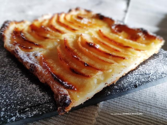 Pastís de Poma, crema, pastís, tarta manzana, postre, L'Essència de la cuina, Blog de Cuina Sonia