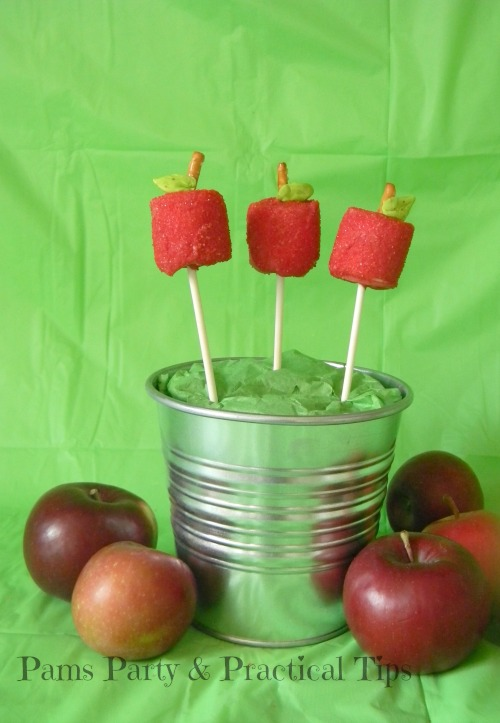 Marshmallow Apple Pops