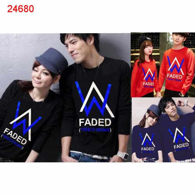 Jual Couple Lengan Panjang LP Alan Walker Tiesto - 24680
