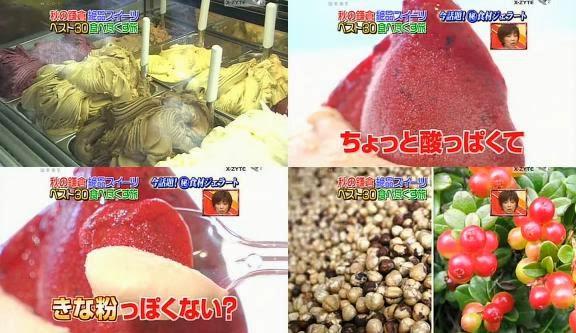 ขนมญี่ปุ่น, ขนมประเทศญี่ปุ่น, จัดอันดับอาหาร, อาหารญี่ปุ่น, ไอศครีมเจลาโต้