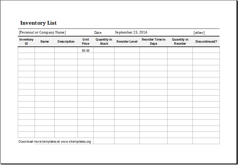 Restaurant Inventory Spreadsheet Template Free  Inventory Spreadsheet Template Free