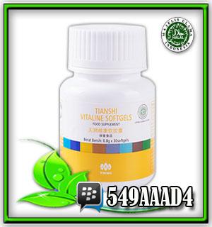 vitaline softgel capsules, herbal awet muda, herbal perpanjang usia sel, obat herbal penghancur batu ginjal