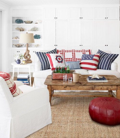 red and blue living room decor 15 maneras de decorar un sal 243 n rustic chic 26092
