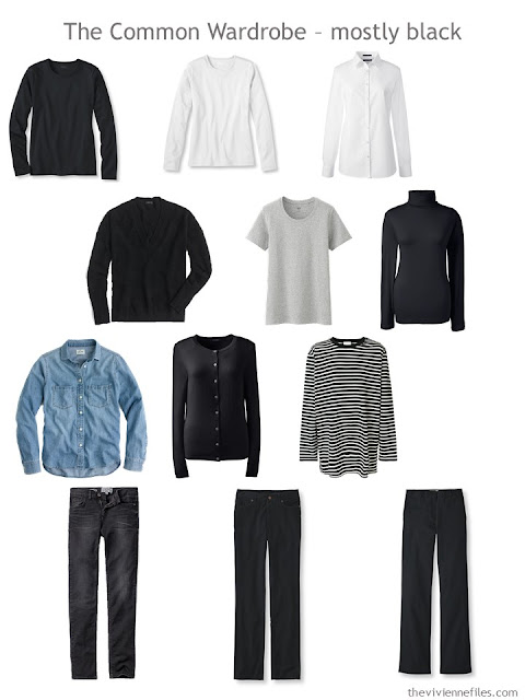 A Common Wardrobe in mostly black