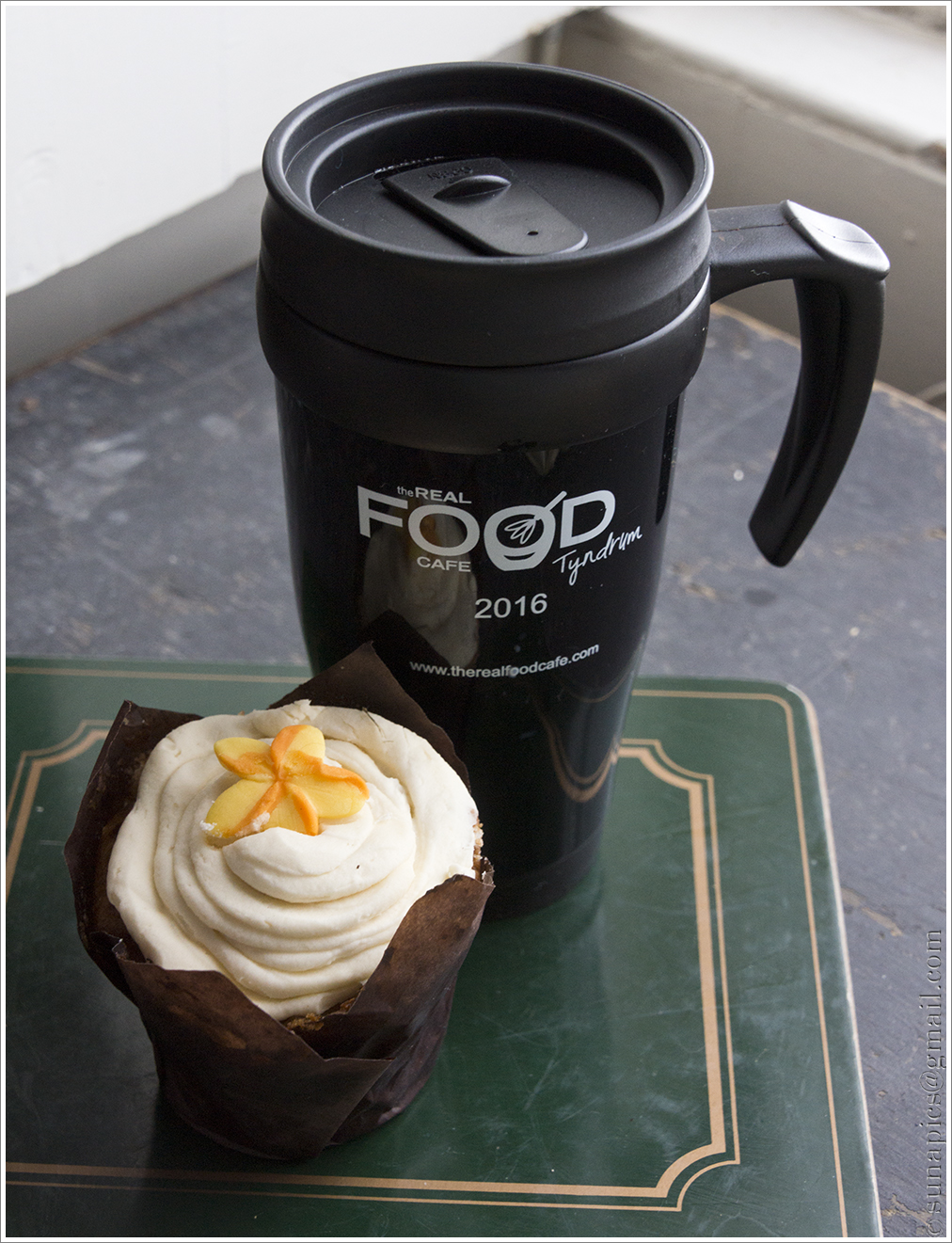 Thursday home again diary of a vagabond clutter junkie happiness is coffee and muffin from the new grab and go extension to the real food caf in tyndrum the muffin made with parsnip and i forget what malvernweather Choice Image