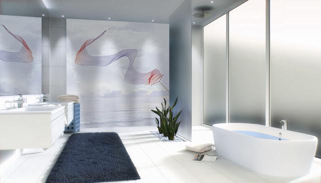 decor mural pour salle de bain vue qui agrandit l'espace